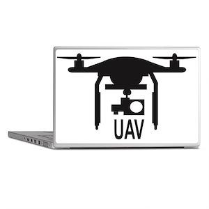 UAV Drone Silhouette Laptop Skins