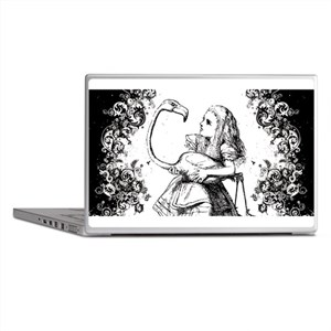 Flamingo Alice Swirls Laptop Skins