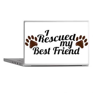 Rescued Dog Best Friend Laptop Skins
