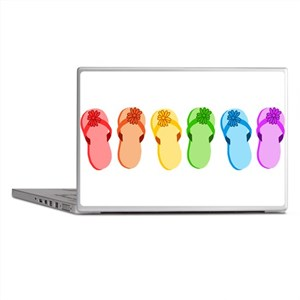 Rainbow Flip-Flops Laptop Skins