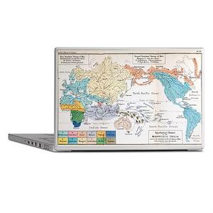 Ernst Haeckel Map Lemuria Human Origi Laptop Skins
