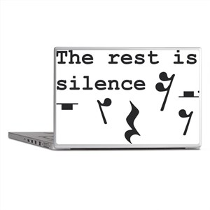 The rest is silence Laptop Skins