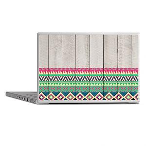 Vibrant Pink Turquoise Aztec Pattern  Laptop Skins