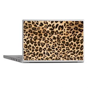 Leopard Gold/Black Print Laptop Skins
