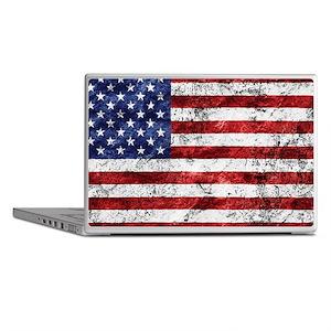 Grunge American Flag Laptop Skins
