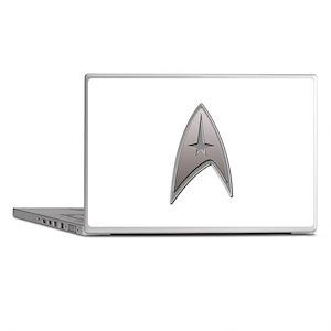 STAR TREK Silver Metallic Insignia Laptop Skins