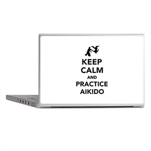 Keep calm and practice Aikido Laptop Skins