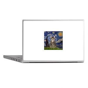 Starry Night & Tiger Cat Laptop Skins
