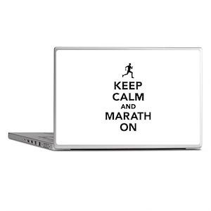 Keep calm and Marathon Laptop Skins