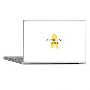 Airborne Wife Ribbon Laptop Skins