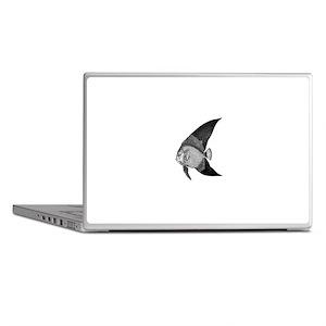 Vintage Angel Fish illustration Laptop Skins