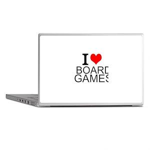 I Love Board Games Laptop Skins