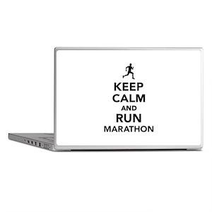Keep calm and run Marathon Laptop Skins