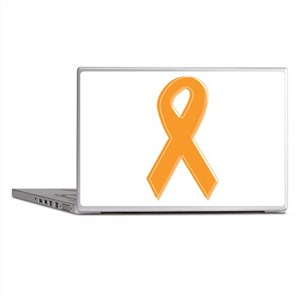Orange Aware Ribbon Laptop Skins