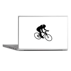 Cycling woman girl Laptop Skins