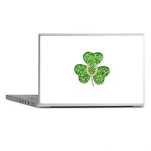 Glitter Shamrock And Horseshoe Laptop Skins