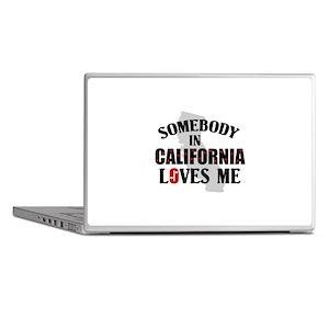 Somebody In California Laptop Skins