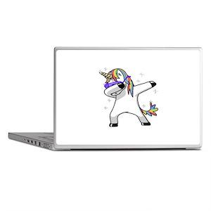 unicorn dabbing Laptop Skins