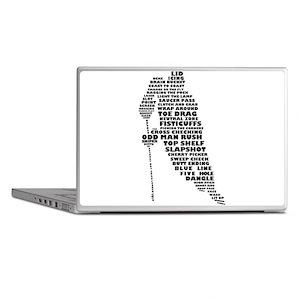 Language of Hockey (skater) Laptop Skins