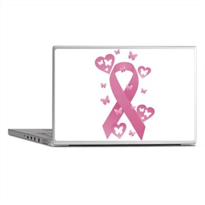 Pink Awareness Ribbon Laptop Skins