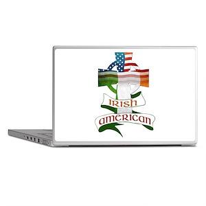 Irish American Celtic Cross Laptop Skins