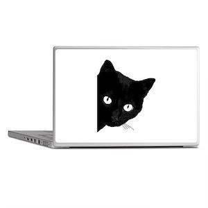 Black cat Laptop Skins