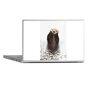 Bashful Sea Otter Laptop Skins