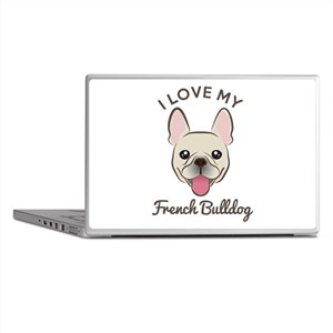 I Love My French Bulldog Laptop Skins