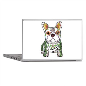 Sugar Skull Frenchie Laptop Skins