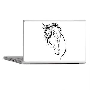 Line Drawn Horse Head Laptop Skins