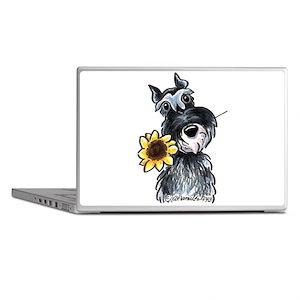 Sunflower Schnauzer Laptop Skins