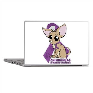 Chihuahuas for Alzheimers Awareness Laptop Skins