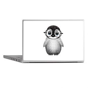 Cute Baby Penguin Wearing Glasses Laptop Skins