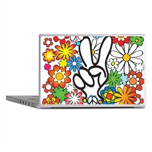 Flower Power Peace Laptop Skins