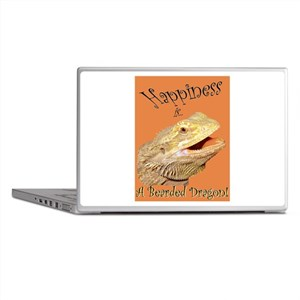 Happiness is a Bearded Dragon. Laptop Skins