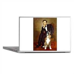 Lincoln & his Boxer Laptop Skins