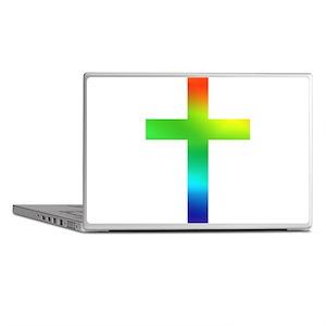 Rainbow cross Laptop Skins