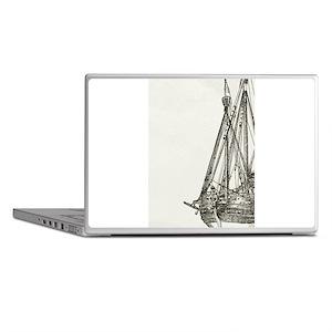 Pirate Ship Illustration Laptop Skins