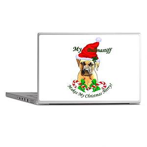 Bullmastiff Christmas Laptop Skins