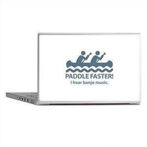 Paddle Faster I Hear Banjo Music Laptop Skins
