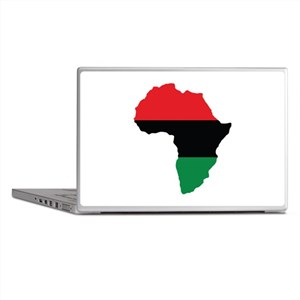 Red, Black and Green Africa Flag Laptop Skins