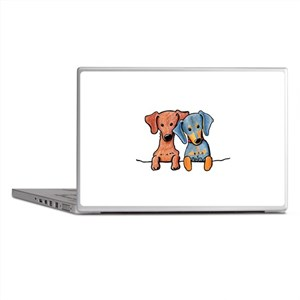 Pocket Doxie Duo Laptop Skins