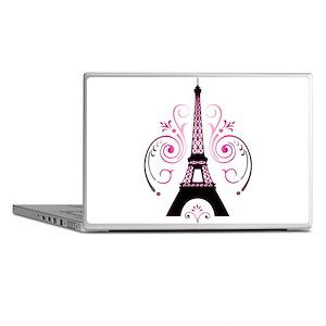Eiffel Tower Gradient Swirl Laptop Skins