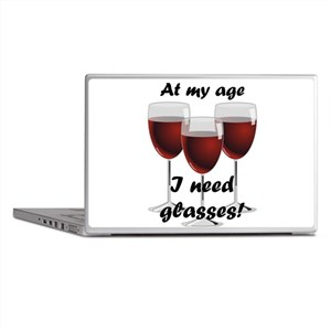 At my age I need glasses! Laptop Skins