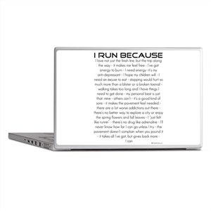 I Run Because Laptop Skins