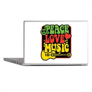 Rasta Peace Love Music Laptop Skins