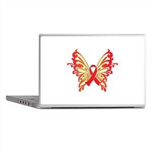AIDS Ribbon Butterfly Laptop Skins