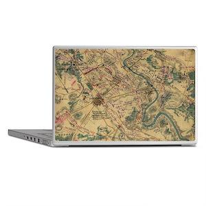 Vintage Antietam Battlefield Map (186 Laptop Skins