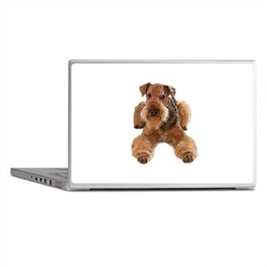 Heavily Deconstructed Vector Airedale Laptop Skins