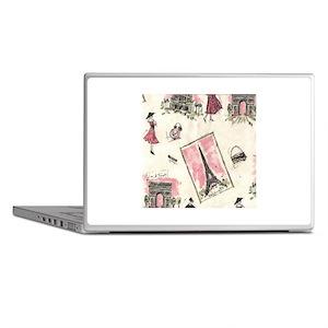 Vintage Paris Pink Laptop Skins